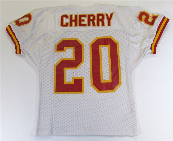 Deron Cherry GU 1991 Signed KC Chiefs Jersey