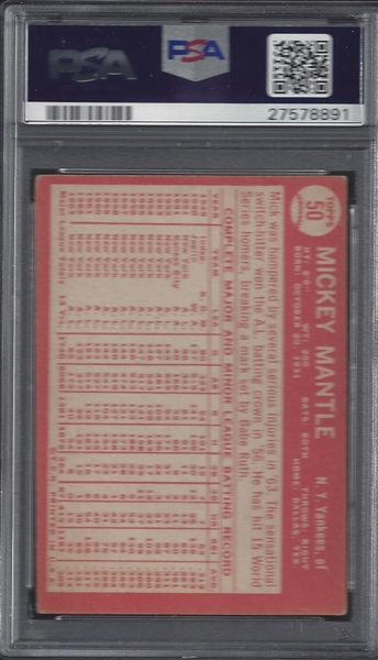 1964 Topps Mickey Mantle PSA Authentic