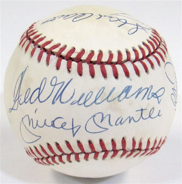 500 HR Club Ball W/ 11 Sigs (Mantle, Williams, Mathews, Mays, Etc)