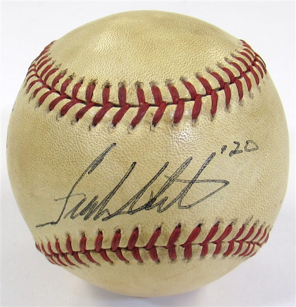 Frank White Game Used Hit for Cycle Signed Ball