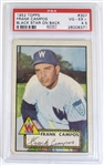 1952 Topps Frank Campos Black Star On Back PSA 4.5