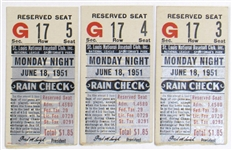 Lot Of 3 Ticket Stubs Willie Mays Career HR #4