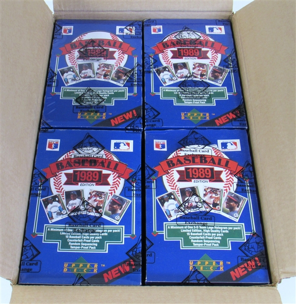1989 Upper Deck Baseball Low Series Wax Case