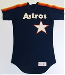 Late 1980s Jorge Orta GU Houston Astros Practice Signed Jersey