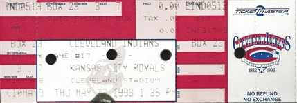 George Brett 300th Career Home Run Ticket