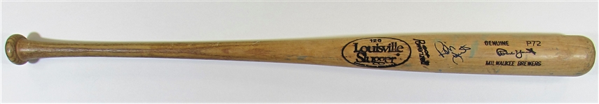 1991-93 Robin Yount GU Signed Bat