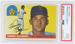 1955 Topps Harmon Killebrew Rookie Card PSA 2