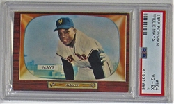 1955 Bowman Willie Mays PSA 4