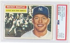 1956 Topps Mickey Mantle PSA 2 (MK)