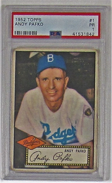1952 Topps Andy Pafko PSA 1