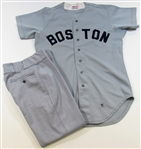 1981 Tom Burgmeier  Boston Red Sox GU Jersey & Pants