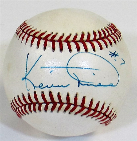 Kevin Mitchell Signed Ball