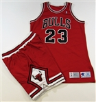 1991 Michael Jordan Pro-Model Chicago Bulls Jersey & Shorts