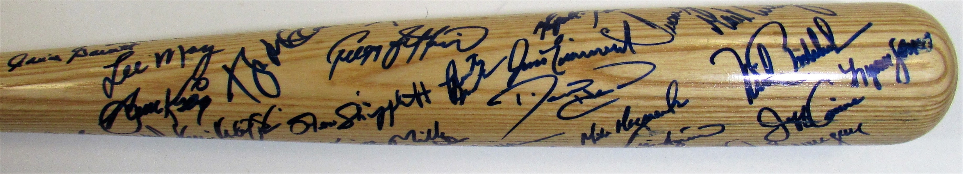 1992 K.C. Royals GI Team Signed Bat