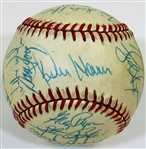 1985 Kansas City Royals Team Signed Ball