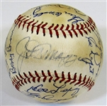 N.Y. Yankees HOFers & Stars Signed Ball W/22 Sigs