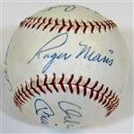 HOFers & Stars Signed Ball W/8 Sigs (Maris,Mantle,Boyer,Koufax, ETC)