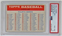 1957 Topps CL 4/5 Twin Blony PSA 4