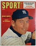 Mickey Mantle Signed Sport Magazine