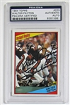 Walter Payton Signed 1984 Topps  Card PSA