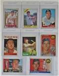 Lot Of 8- Al Kaline Topps Baseball Cards Including Rookie