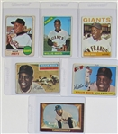 Lot Of 6- Willie Mays Baseball Cards