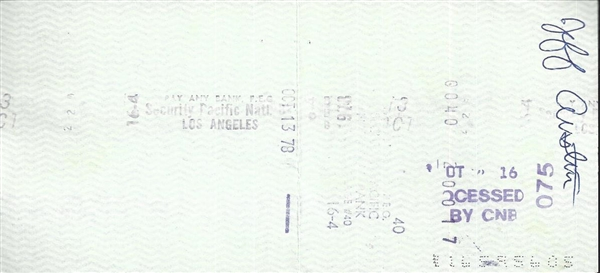 Gene Wilder Signed Check
