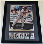 George Brett Framed Signed Combo W, Cards- GB0695