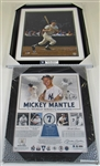 Lot Of 2- Mickey Mantle Framed Display Pieces