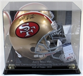 Jerry Rice Signed Full Size Helmet W/ Case SF 49ers PSA
