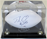 Jamaal Charles Signed Football W/ KC Chiefs Display Case