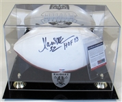 Marcus Allen Signed Raiders Football W/Display Case PSA