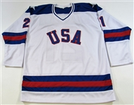 Mike Eruzione Signed USA 1980 Gold Medal Jersey