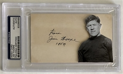 Jim Thorpe Signed PSA Cut Autograph