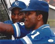 Kansas City Royals Bo Jackson and Hal McRae Signed JSA Original Photo