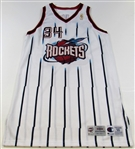 1996-97 Hakeem Olajuwon Game Worn Houston Rockets Jersey