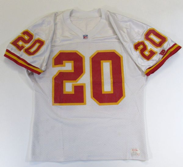 1991 Deron Cherry Game Used KC Chiefs Signed Jersey