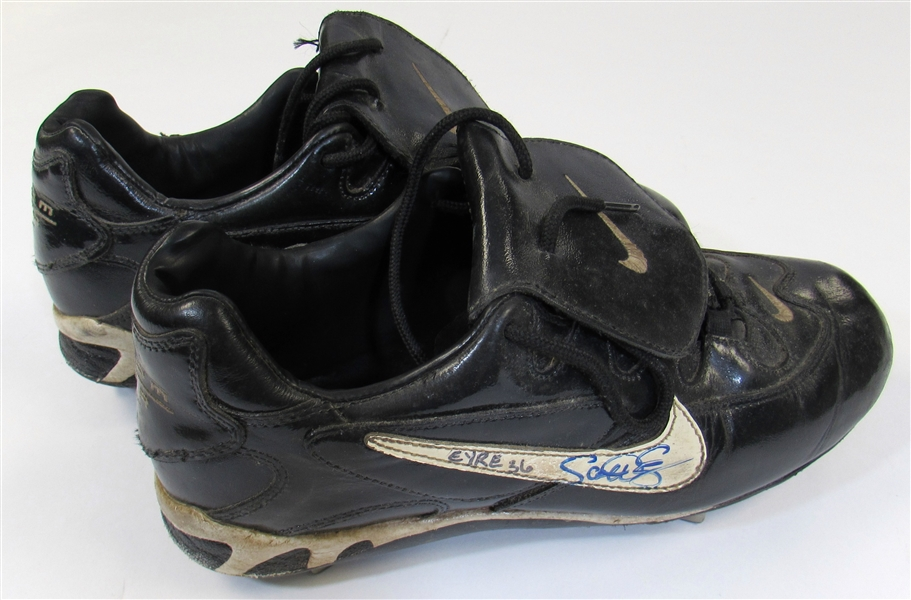 Scott Eyre Game Used Signed Chicago White Sox Cleats. Scott Erye #36