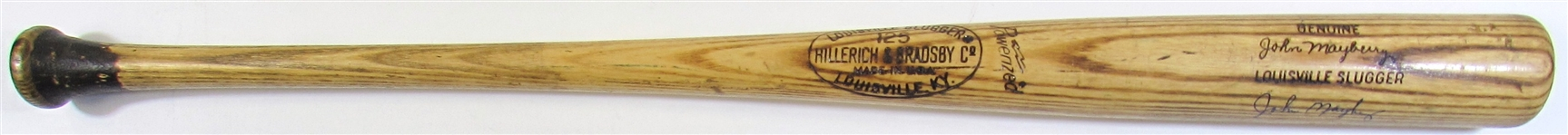 1973-75 John Mayberry Game Used Signed Bat
