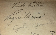 Roger Maris Team Signed 1956 Indianapolis Indians - JSA