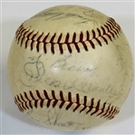 1961 New York Yankees Team Signed Baseball