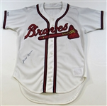 Hank Aaron Atlanta Braves Old-Timers Jersey Signed JSA