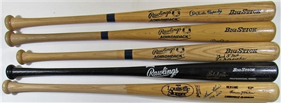 Lot Of 5- HOFers Signed Bats (Killebrew, Gibson, Feller, Cepeda & ONeil)