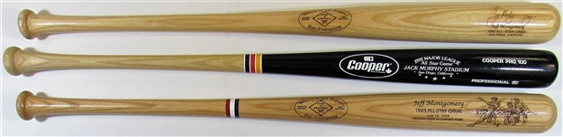 Jeff Montgomery lot of 3 All-Star Game Bats