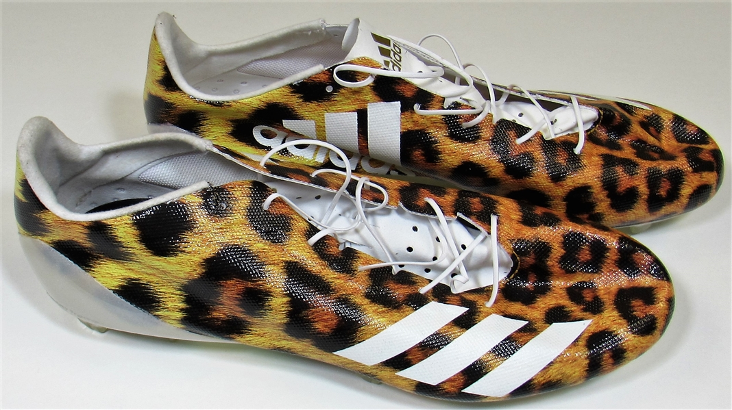 Patrick Mahomes Jr Cheetah Cleats 2017 NFL Combine