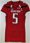 Patrick Mahomes II Last Game Worn 2016 Texas Tech Jersey -Photo Match
