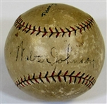 Walter Johnson Single Signed Basaeball PSA A91407
