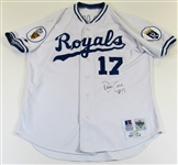 1993 David Cone Game Used Kansas City Royals Signed Jersey