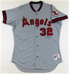 1990 Dave Winfield Game Used Signed Angels Jersey