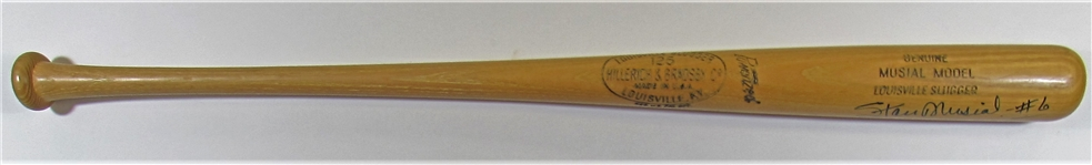 1961-63 Stan Musial Signed Bat